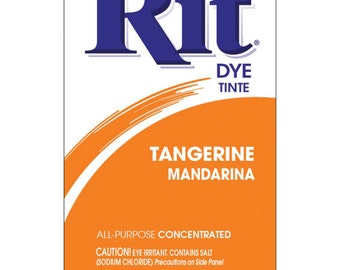 Rit dye choose from colours: tangerine mandarin, sunshine orange, golden yellow
