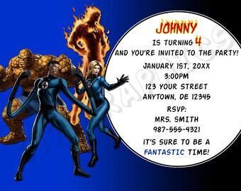 Fantastic Four Birthday Invitation - Printable
