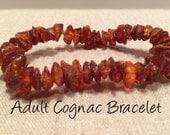 Adult Genuine Baltic Amber Bracelet. Anti-Inflammatory, Reduce sympoms: Carpal Tunnel, Headaches, Arthritis, more