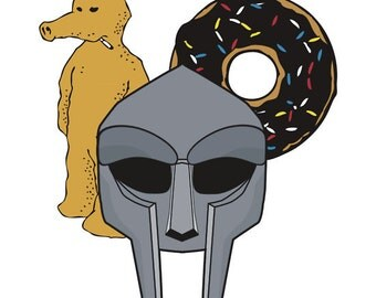 2 Stickers MF DOOM - Doom, Dilla, Madlib Sticker