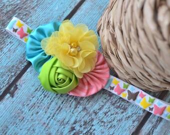 Spring Butterflies Headband