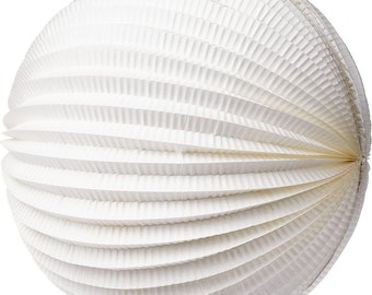 """12 Inch Accordion """"Whites"""" Paper Lanterns for Weddings. Celebrations. Showers. Parties. Events."""