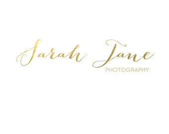 Gold Foil Logo, Premade Gold Logo, Photography Logo, Business logo, premade watermark, Calligraphy Logo, Business Logo, Branding Logo