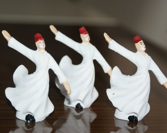 Sufi Whirling Dervish made of Ceramic Handmade (1.96 inch) set of 3