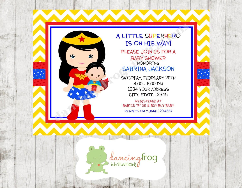 superhero boy baby shower invitation custom by dancingfroginvites