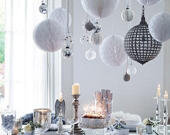 16 Tissue PAPER Pom Pom HONEYCOMB BALLS-party /birthday /wedding / decoration/ 10 colors