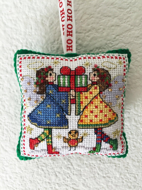 Handmade Cross Stitch Christmas Ornament Christmas Tree