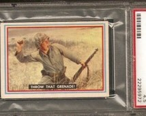 Rare MARINE CORPS collectible Trading Card professionally graded 1953 Topps Fighting Marines #22 Throw That Grenade PSA 4.5 Semper Fi Corps