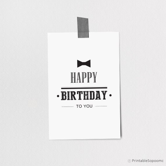 Items Similar To Printable Birthday Card + Envelope