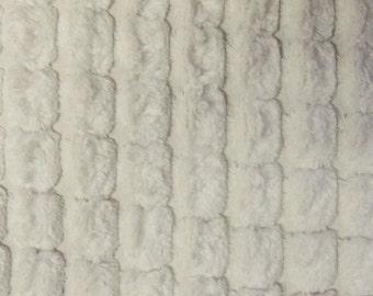 Luxury Velvet Pom Pom Chalk SR16120 Upholstery / Curtain Fabric by the metre.
