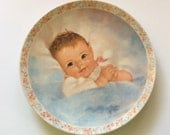 Baby Wall Decor, The Awakening, Collectible Plate, Charlotte Becker. Curator Collection, 1983. Baby Plate. Baby Boy! Baby Girl! Baby Shower!
