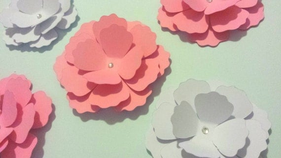 Wall Flowers Decor 3d paper flower nursery flower decor wall flower decor