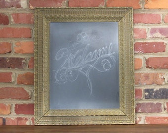 Antique framed chalkboard-kitchen accent-home decor-housewarming-gif