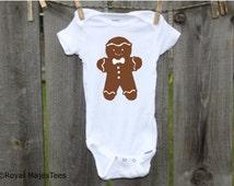 Gingerbread Man Christmas Onesies®, Baby's 1st Christmas, Toddler, kids