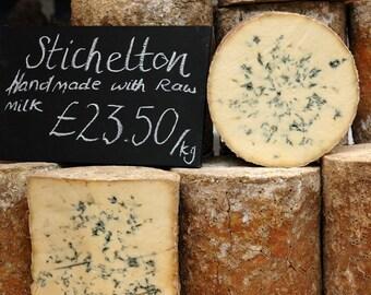 Food Photography, Kitchen Art, Kitchen Decor, Wall Art, Restaurant Decor, English, Cheese, Europe Market, cream, European, Travel Photo