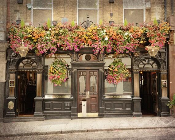 London pub london photography british decor fine art print - British paints exterior decor ...