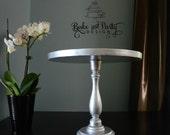 "12"" Wedding Birthday Bridal Shower Baby Shower Party Vintage Silver Event Decor Unique Elegant Vintage Retro  Beautiful Cake Stand"