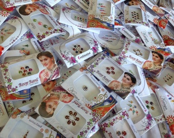 25  Packs Bindi, Wholesale Bindi Packs, Face Jewels, Belly dance  bindi,  Indian Bindi Packs, Self adhesive Bindi Packs, Bindi Dots
