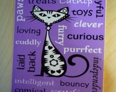 Cat Subway Word Art Spiral Notebook - Fits easily in almost any size purse or pocket - Cat Lover Gift