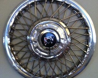 1970s Buick Wire Spoke Hubcap Wall Clock