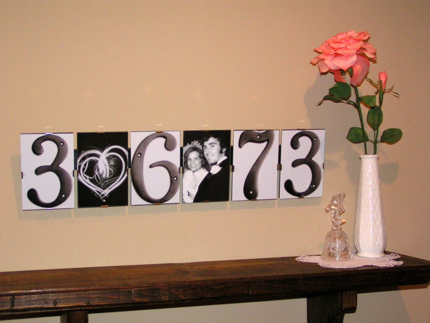 Wedding Gift Alphabet Art : Wedding Date Gift Letter Picture Art by LetterPictureArt on Etsy