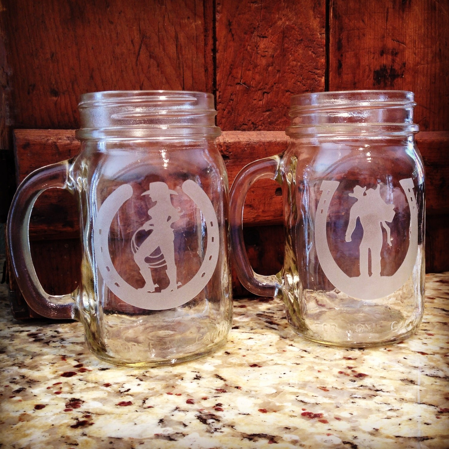 Rustic Jars For Wedding: Mason Jars Toasting Glasses Mason Jar Rustic Wedding Barn