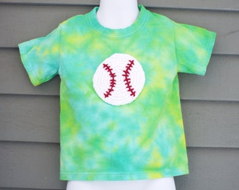 Baseball Shirt for Toddlers and Kids- Toddler Baseball Shirt- Kids Baseball Shirt- Baseball Birthday Gift- Toddler Tie Dye- Children Tie Dye