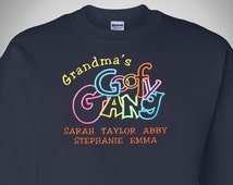 Grandma's Goofy Gang Shirt | Personalized Grandma Gift | Grandchildren's Names for Grandma | Completely Personalized by her Grandchildren!