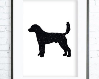 Black Dog Print, Dog Printable, Black Dog, Dog Art, Dog Print Art, digital art, Print,Black and White, Dog print