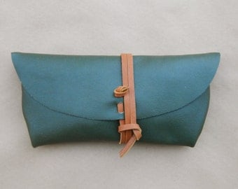 Leather Clutch - Pine/Brown