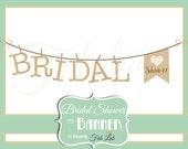 Bridal Shower Clipart, Banner, Digital Clipart, Rustic, Clothes Line, Scrapbook, PNG
