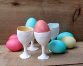 Porcelain Egg cup , easter,spring gift... ceramic egg holder or shot glass, coquetier, apéro