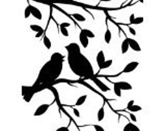Birds on Branches Embossing Folder by Darice