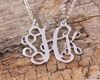 Personalized Initila Monogarm Necklace - 3 Initials Name Necklace - Monogram Necklace
