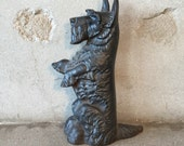 Vintage Wrought Iron Scottie Dog Door Stop