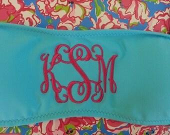 Monogrammed Bandeau Bikini Top