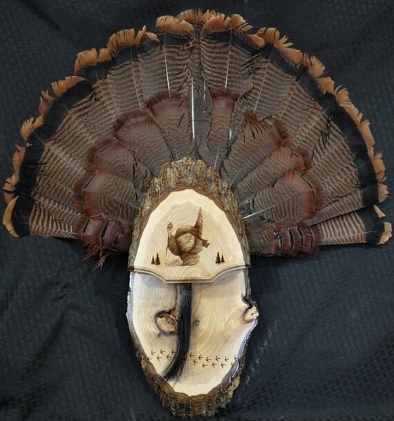 Turkey Fan Hunting Mount Board Live