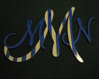 UNPAINTED 20x28 Wooden Script Monogram, Nursey Decor, Wedding Monogram, Unfinished Monogram, Script Monogram