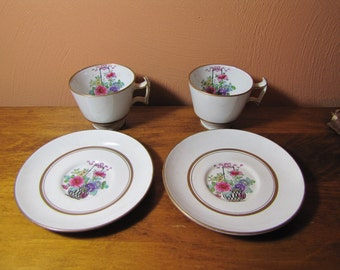 Booths Silicon China A 1435 Tea Cup and Saucers (2)