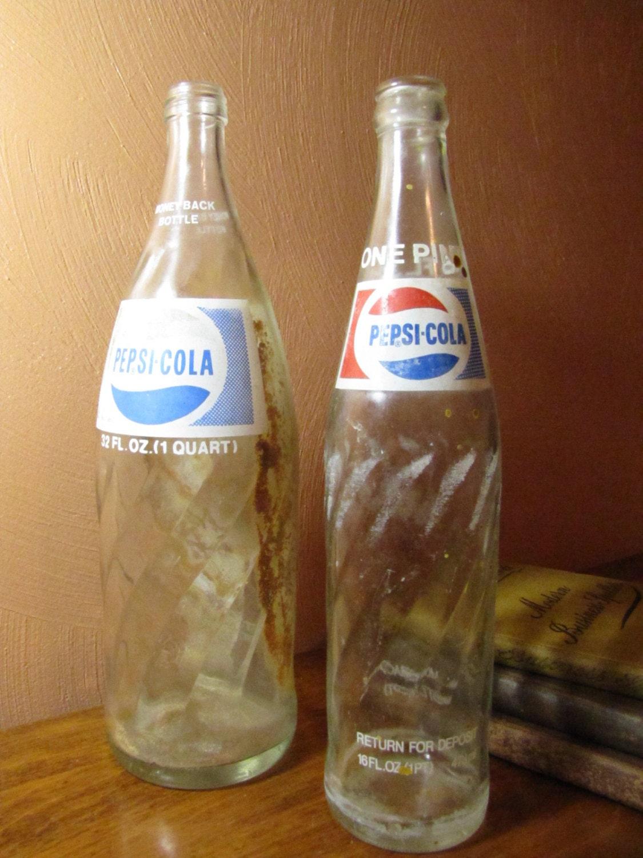 Old Pepsi Glass Bottles 24