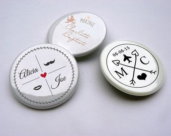 badge custom wedding (mini 50 pieces)