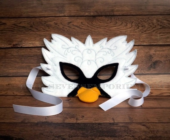 Pin download swan mask template on pinterest for Swan mask template