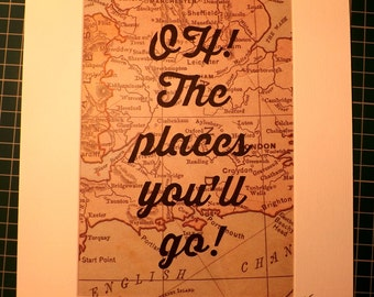 Oh! The places you'll go! Papercut