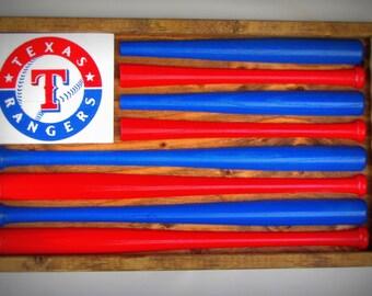 Texas Rangers Baseball Bat Flag