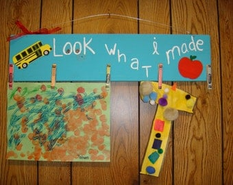 Look What I Made Sign For Child's Art or School Work!