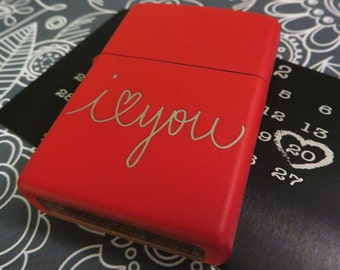Handwritten Red Zippo Your Handwriting Engraved Bridesmaid Personalized Custom Birthday Military Deployment Fathers Day