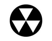 """Fallout Shelter Symbol - Vinyl Decal Sticker - 3.75"""" x 3.75"""" - 24 Colors - [#0284]"""