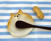 "Ceramics tablewear  ""The spoon rest of Shiba Inu type""  Shiba is the Japanese dog.  工房しろ"