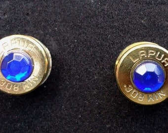 Bullet Stud Earrings with the birthstone of your choice