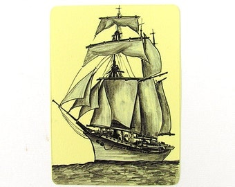 Limited Edition ATC and  ACEO Print  - Sailing Ship - Limited Edition